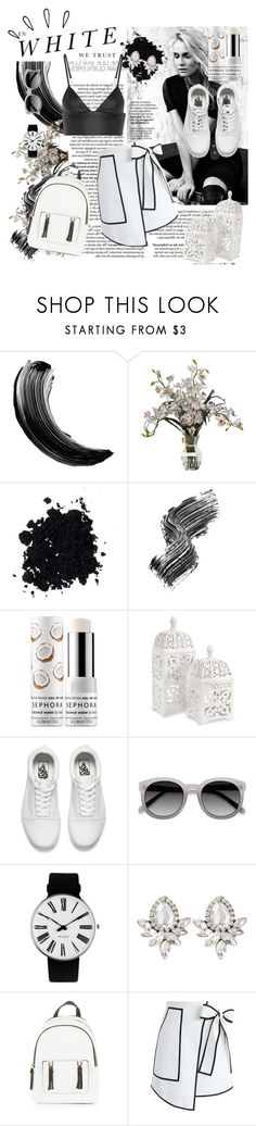 """""""black and white"""" by cotyzaragoza ❤ liked on Polyvore featuring Marc Jacobs, Madara, Illamasqua, Sephora Collection, Old Navy, IMAX Corporation, Vans, Ace, Rosendahl and New Look"""