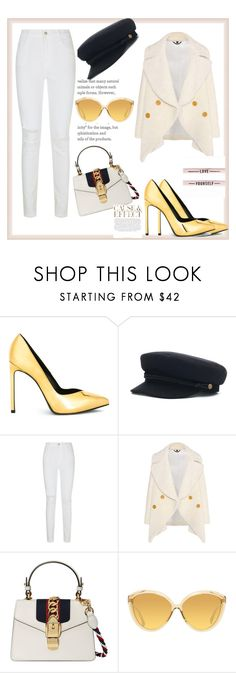 """Bez naslova #5"" by erminaavdic ❤ liked on Polyvore featuring Yves Saint Laurent, J Brand, Burberry, Gucci, Envi: and Linda Farrow"