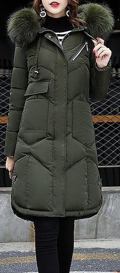 US$63.49 + Free shipping. Size: S~2XL. Color: Army Green, Black, Blue, Dark Grey, Light Grey, Pink,Red. Loving this warm and cozy style. Women Pure Color Long Sleeve Hooded Mid-Long Down Coats. Shop at banggood with affordable price.  #women #coats#outwear#2018