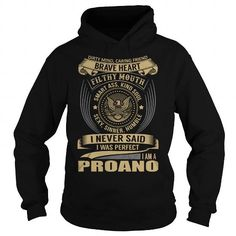 Cool PROANO Last Name, Surname T-Shirt T shirts