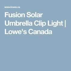 Fusion Solar Umbrella Clip Light | Lowe's Canada