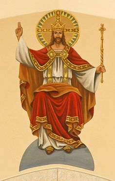 Saint Ignatius Loyola Roman Catholic Church, in Concord Hill, Missouri, USA - Christ the King.jpg