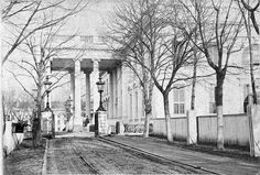 The White House as it looked in the 1860's
