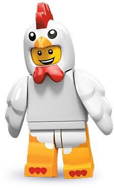 Black Friday 2014 Lego 71000 Series 9 Minifigure Chicken Suit Guy from LEGO Cyber Monday. Black Friday specials on the season most-wanted Christmas gifts. Lego Sets, Lego Star Wars, Minifigura Lego, Lego Ninjago, Figuras Star Wars, Chicken Costumes, Lego People, Lego Minifigs, Lego Worlds