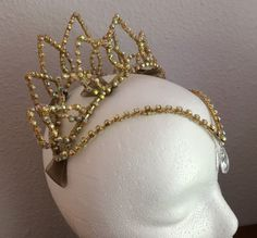 NEW Professional Gamzatti Gold AB Crystal Ballet Tiara Headpiece YAGP-In Stock! #Handmade #TiaraCrownHeadpiece