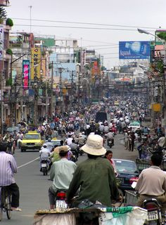 Saigon (Ho Chi Minh City), Vietnam (July - never seen roads like it. No wonder the song said the heat was on in Saigon! Visit Vietnam, Vietnam Tours, Vietnam Travel, Vietnam War, Asia Travel, Saigon Vietnam, Vietnam Ho Chi Minh, Ho Chi Minh City, Laos