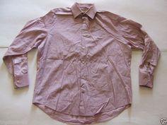 BANANA REPUBLIC Men's Shirts Size-L (16-16.5) Stretch  Very Good!  #BananaRepublic
