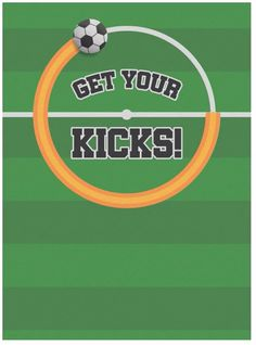 Get your kicks! Host a soccer party with this animated Evite invitation featuring a moving soccer ball.