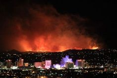 Fire burns around Reno, Nevada
