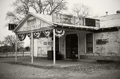 M.E. Schulze's Grocery & Feed, now known as Merry Christmas Bar, in Round Top, Texas