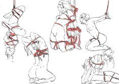 Shibari Sketches by KielSambajon