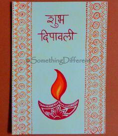 Diwali Greeting card Diwali Cards, Diwali Greeting Cards, Diwali Greetings, Greeting Cards Handmade, Preschool Alphabet, Diwali Festival, Happy Diwali, Diy And Crafts, Paintings