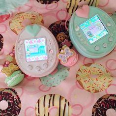 This is what the gadget would look like some along these lines. Pastel Goth, Pastel Pink, Tamagotchi P's, Kawaii Room, Virtual Pet, Cute Games, Kawaii Cute, Kawaii Stuff, All Things Cute