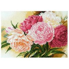 DIY Diamond Painting Cross Stitch Kit Peony Flower:Craftar