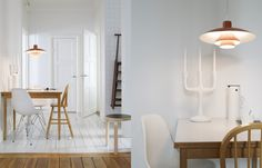 white & wood floor