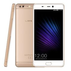 Leagoo T5 - $149.99 4G Phablet 4GB RAM 64GB ROM CHAMPAGNE Front Fingerprint Sensor MTK6750T 13.0MP + 5.0MP Dual Rear Cameras #Smartphone, #смартфон, #Phablet, #Leagoo, #gearbest