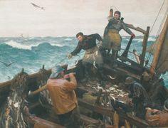 "Francis Tattegrain, ""Le Cueillage, Berck"", peinture"