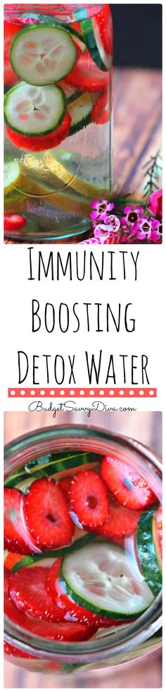 I have been drinking this detox for a couple weeks and I never felt better - boost of energy and I can tell it is helping my immunity. Not getting sick anytime soon - Immunity Boosting Detox Water Recipe