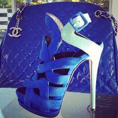 Giuseppe Zanotti heels & Chanel bag <3