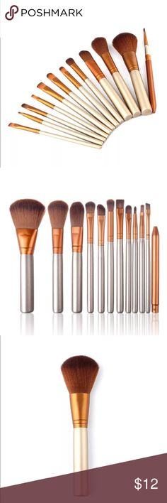 Makeup brushes Gold makeup brushes get yours today!! Makeup Brushes & Tools