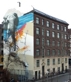 The work of Simon Hjermind Jensen - PROJECTS - Mural: Collage 2011