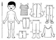 Leben und Wohnen - Kleidung Anziehpuppe Junge - von Kitzing