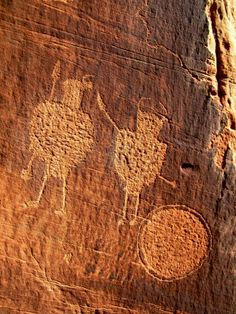 Solstice Snake and Warrior Panel, Moab, Utah Ancient Symbols, Ancient Artifacts, Ancient Aliens, Cave Drawings, Mexica, Ancient Mysteries, Native Art, Ancient Civilizations, Gravure