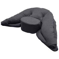 Gray Meditation Crescent Cushion / Zafu / Yoga support  - Regular Size