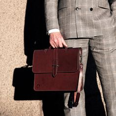 Made in England  Slim 14 Briefcase in Chestnut and by Holdallandco