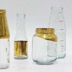 gold milk jugs