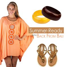 Get Spring/Summer ready with this Women's Short Poncho Circle Caftan Cover-Up with Circle Embroidery, and flirty thigh-grazing hemline
