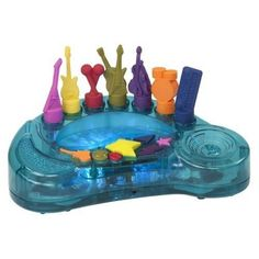 B. Rockestra!  Discover 7 rocking, musical instruments! Play just 1, or any 6 at once. The same rock song sounds different every time you play it.   http://www.mastermindtoys.com/B-Rockestra.aspx