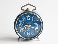 Vintage Soviet Alarm Clock Table Clock Mechanicanl by SovietLegacy