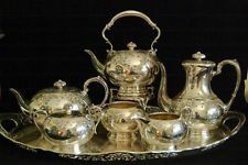 1910 Fenton Brothers Sheffield English Silver plate 6 pc set tea coffee service