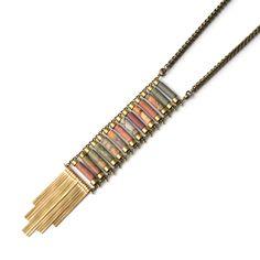 Image of Demimonde Jasper Ladder Necklace
