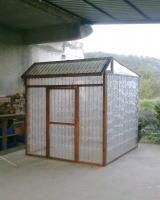 Greenhouse made of bottles - I would love to do this - something tells me the husband would not like the pre-build part though - 1000 plastic water bottles!