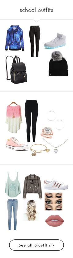 """""""school outfits"""" by emmathetiger on Polyvore featuring UGG, L.K.Bennett, Converse, Cartier, Alex and Ani, RVCA, Givenchy, adidas, Lime Crime and Burberry"""