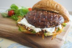Portobello Mushroom Burger - delicious & guilt free!