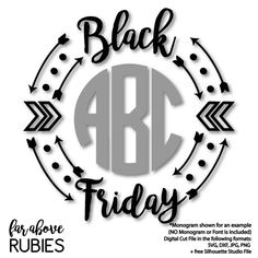 Black Friday Monogram (monogram NOT included) Wreath Frame with Arrows - SVG, DXF, png, jpg digital cut file for Silhouette or Cricut Black Friday Shirts, Friday T Shirt, Friday Outfit, Black Friday 2019, Best Black Friday, Black Friday Shopping, Silhouette Curio, Silhouette Cameo Projects, Free Silhouette