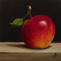 """Red Falstaff Apple No. 2"" - Original Fine Art for Sale - © Jane Palmer"