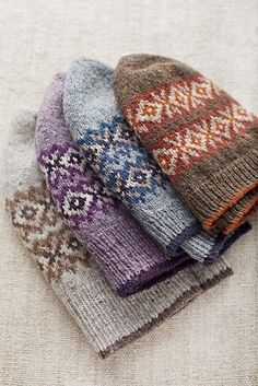 Brooklyn Tweed Seasons Beanies
