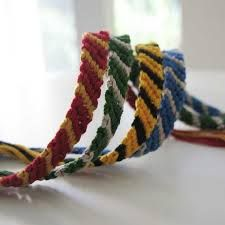 Hogwarts house colors friendship bracelets