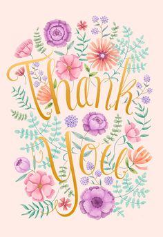 Flower bush - Thank You Card #greetingcards #printable #diy #thankyou #notes #thanks Thank You Card Template, Thank You Cards, Bubble Quotes, Thank You Flowers, School Of Visual Arts, Spring Art, Printable Cards, Printables, Illustration Art