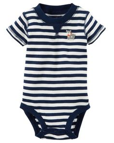 Striped Bulldog Bodysuit from Carters.com. Shop clothing & accessories from a trusted name in kids, toddlers, and baby clothes.