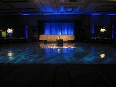 Water Wall Behind Head Table & Dance Floor Lighting by Sheraton Chicago Weddings, via Flickr