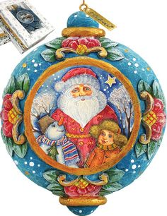 Features:  -Comes in a beautiful decorative gift box.  -Made in the USA.  Product Type: -Shaped ornament.  Theme: -Santa.  Color: -Multi-color.  Country of Manufacture: -United States.  Primary Materi
