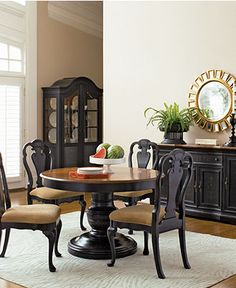 Dining nook on pinterest round dining tables dining for Dining room tables macys