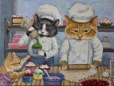"Joy Campbell | OIL | ""Kitty Kat Bakery"""