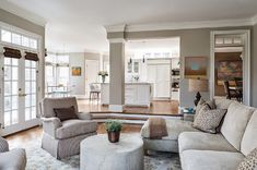 Same sunken living/ family room. Open plan. House of Turquoise.