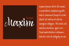 FREE this week on Creative Market: Maxim Script by Vera Holera Download link: http://crtv.mk/d05wN